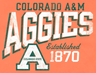 mark for COLORADO A&M AGGIES A COLORADO STATE ESTABLISHED 1870, trademark #85966671