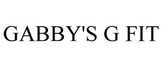 mark for GABBY'S G FIT, trademark #85967208