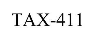 mark for TAX-411, trademark #85967333