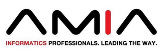 mark for AMIA INFORMATICS PROFESSIONALS. LEADING THE WAY., trademark #85967766