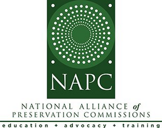 mark for NAPC, NATIONAL ALLIANCE OF PRESERVATION COMMISSIONS, EDUCATION + ADVOCACY + TRAINING, trademark #85967826