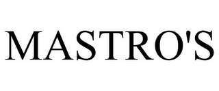 mark for MASTRO'S, trademark #85968064