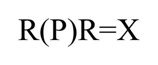 mark for R(P)R=X, trademark #85969071