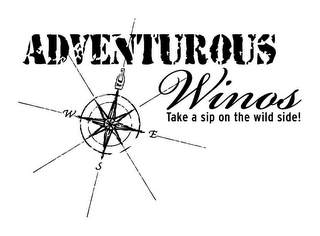 mark for ADVENTUROUS WINO'S TAKE A SIP ON THE WILD SIDE! AW W E S, trademark #85971363
