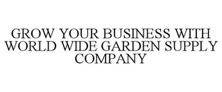 mark for GROW YOUR BUSINESS WITH WORLD WIDE GARDEN SUPPLY COMPANY, trademark #85971655