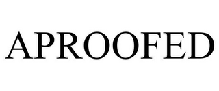 mark for APROOFED, trademark #85971992