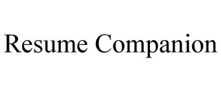 mark for RESUME COMPANION, trademark #85972384