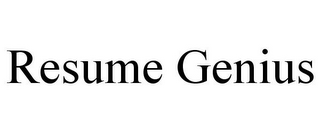 mark for RESUME GENIUS, trademark #85972412