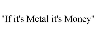 "mark for ""IF IT'S METAL IT'S MONEY"", trademark #85974470"
