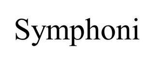 mark for SYMPHONI, trademark #85974830