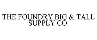 mark for THE FOUNDRY BIG & TALL SUPPLY CO., trademark #85975571