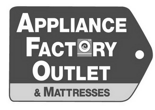 mark for APPLIANCE FACTORY OUTLET & MATTRESSES, trademark #85976992