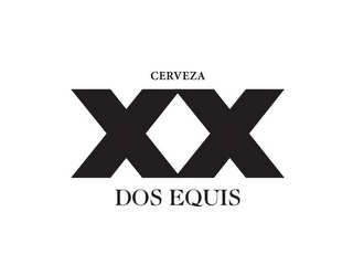 mark for XX DOS EQUIS CERVEZA, trademark #85978999