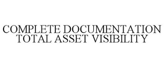 mark for COMPLETE DOCUMENTATION TOTAL ASSET VISIBILITY, trademark #85979434