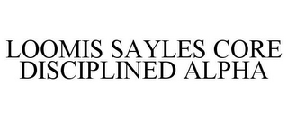 mark for LOOMIS SAYLES CORE DISCIPLINED ALPHA, trademark #85979681