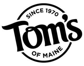mark for SINCE 1970 TOM'S OF MAINE, trademark #85980433