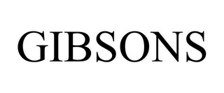 mark for GIBSONS, trademark #85980477
