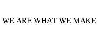mark for WE ARE WHAT WE MAKE, trademark #85980657