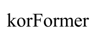 mark for KORFORMER, trademark #86000561