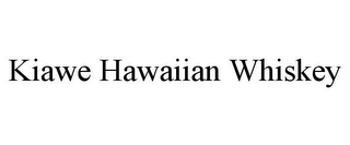 mark for KIAWE HAWAIIAN WHISKEY, trademark #86001614