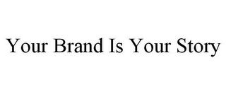 mark for YOUR BRAND IS YOUR STORY, trademark #86001682
