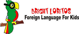 mark for BRIGHT LORITOS FOREIGN LANGUAGE FOR KIDS, trademark #86001711