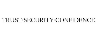 mark for TRUST·SECURITY·CONFIDENCE, trademark #86002768