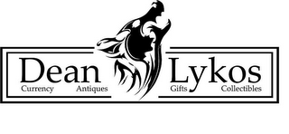 mark for DEAN LYKOS CURRENCY ANTIQUES GIFTS COLLECTIBLES, trademark #86003085