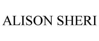 mark for ALISON SHERI, trademark #86006190