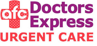 mark for AFC DOCTORS EXPRESS AND URGENT CARE, trademark #86006310