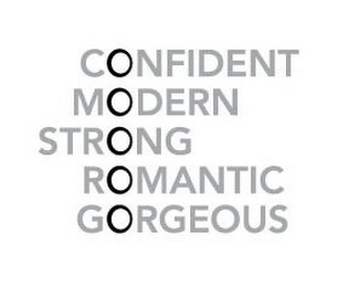 mark for CONFIDENT MODERN STRONG ROMANTIC GORGEOUS, trademark #86008806