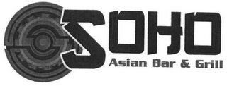 mark for SOHO ASIAN BAR & GRILL, trademark #86009932