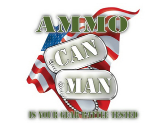 mark for AMMO CAN MAN IS YOUR GEAR BATTLE TESTED, trademark #86010468