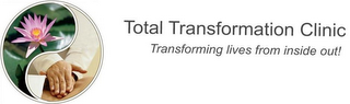 mark for TOTAL TRANSFORMATION CLINIC, TRANSFORMING LIVES FROM INSIDE OUT!, trademark #86012647
