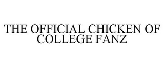 mark for THE OFFICIAL CHICKEN OF COLLEGE FANZ, trademark #86013789