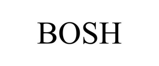 mark for BOSH, trademark #86014511