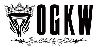 mark for Y OGKW ESTABLISHED BY FAITH, trademark #86014885