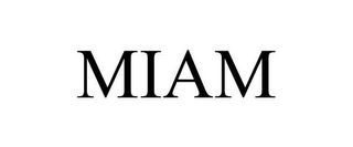 mark for MIAM, trademark #86018594