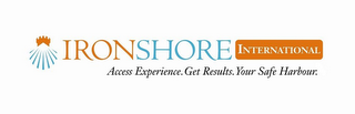 mark for IRONSHORE INTERNATIONAL ACCESS EXPERIENCE. GET RESULTS. YOUR SAFE HARBOUR., trademark #86019733