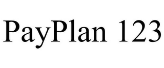 mark for PAYPLAN 123, trademark #86021828