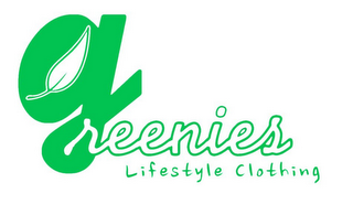 mark for GREENIES LIFESTYLE CLOTHING, trademark #86026177