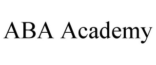 mark for ABA ACADEMY, trademark #86029613