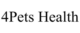 mark for 4PETS HEALTH, trademark #86030275