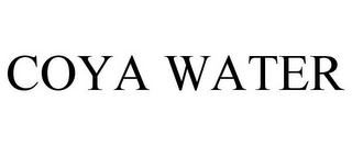 mark for COYA WATER, trademark #86036080