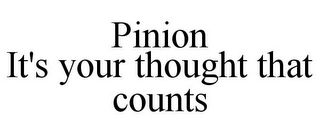 mark for PINION IT'S YOUR THOUGHT THAT COUNTS, trademark #86040034