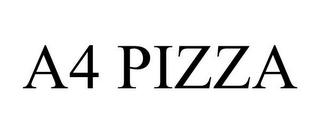 mark for A4 PIZZA, trademark #86041588