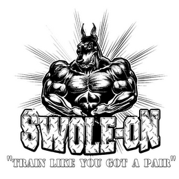 "mark for SWOLE-ON ""TRAIN LIKE YOU GOT A PAIR"", trademark #86043541"