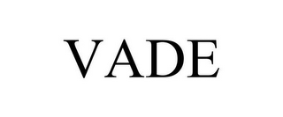 mark for VADE, trademark #86045111