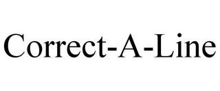 mark for CORRECT-A-LINE, trademark #86049115