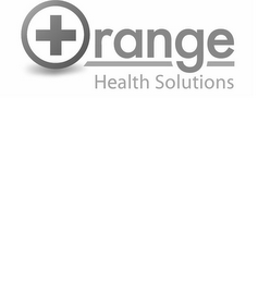 mark for + ORANGE HEALTH SOLUTIONS, trademark #86049334